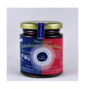Mermelada de arándanos y frambuesa sin azúcar (235g) (100% fruta)  de