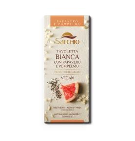 Chocolate blanco con amapola y pomelo bio, Sarchio (80g)  de Sarchio