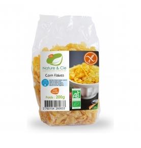 Copos de maíz tostado sin gluten y sin azúcar Bio, Nature & Cie (200g)  de Nature & Cie