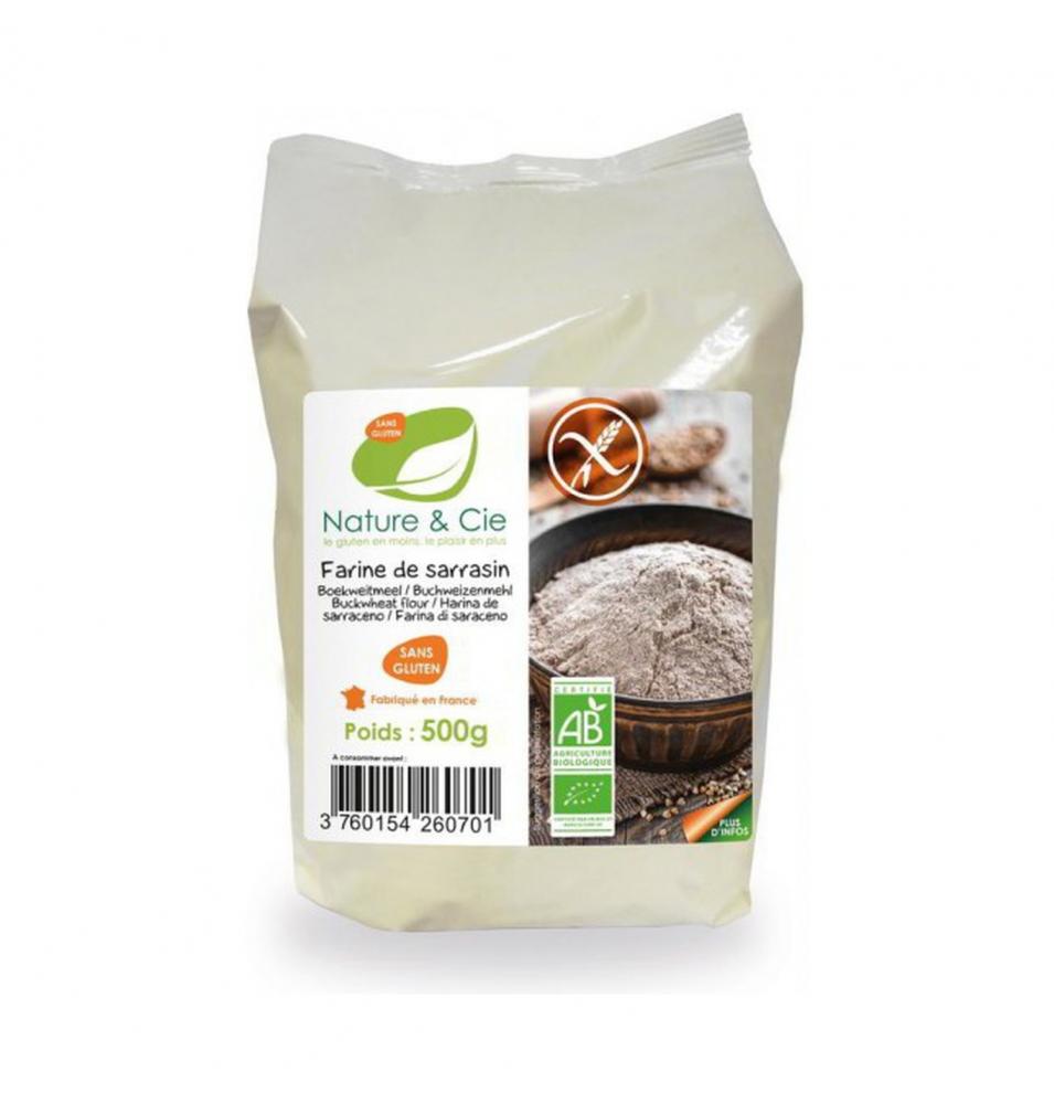 Harina de trigo sarraceno sin gluten BIO, Nature & Cie (500g)  de Nature & Cie