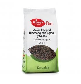Arroz integral hinchado con agave y cacao Bio, El Granero Integral (350g)  de El Granero Integral