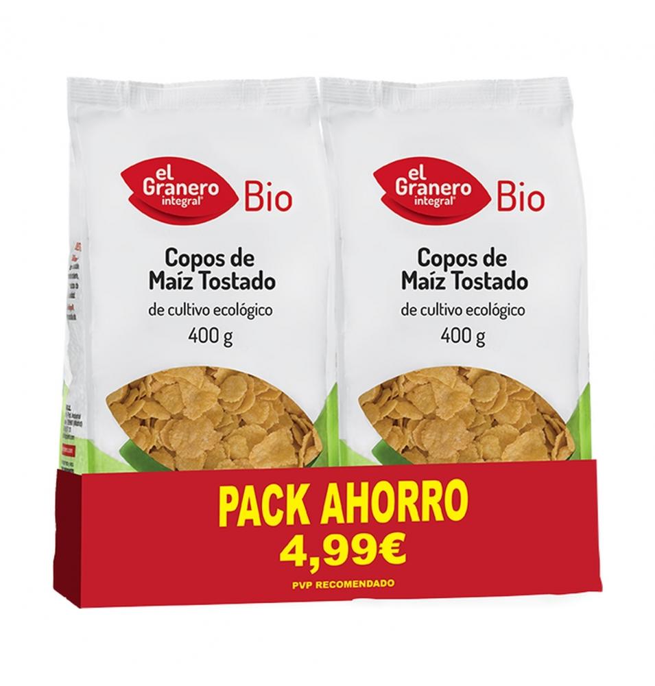 Pack Ahorro de Copos de maíz tostado Bio, El Granero (2x400g)  de El Granero Integral
