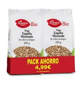 Pack Ahorro de Trigo Espelta hinchada Bio, El Granero Integral (2x200g)  de El Granero Integral