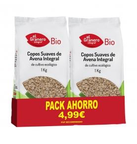 Pack ahorro de Copos suaves de avena integral bio, El Granero Integral (2x1kg)  de El Granero Integral