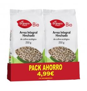Pack ahorro de Arroz integral hinchado Bio, El Granero (2x250g)  de El Granero Integral