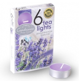 Velas Aromáticas Perfumadas Tealights Lavanda, (Pack de 6uds)  de