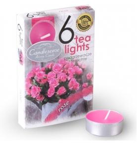 Velas Aromáticas Perfumadas Tealights Rosa, (Pack de 6uds)  de