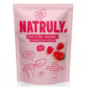 Proteína vegana sabor fresa y frambuesa Bio, Natruly (350g)  de Natruly