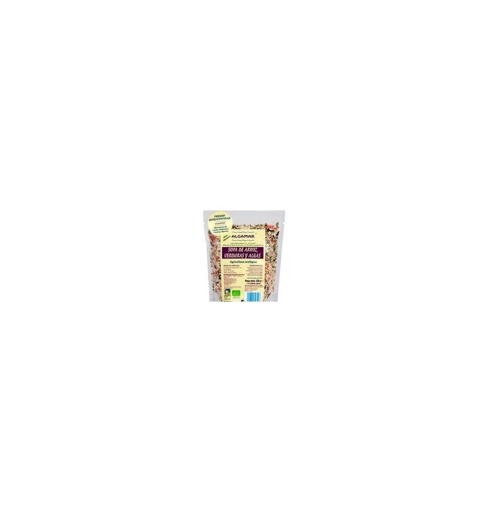 Sopa de arroz, verduras y algas bio, Algamar (500g)  de Algamar