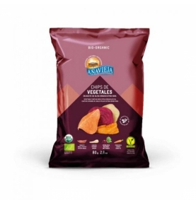 Chips de Vegetales en Aceite de Oliva Bio, Añavieja (80g)  de Añavieja