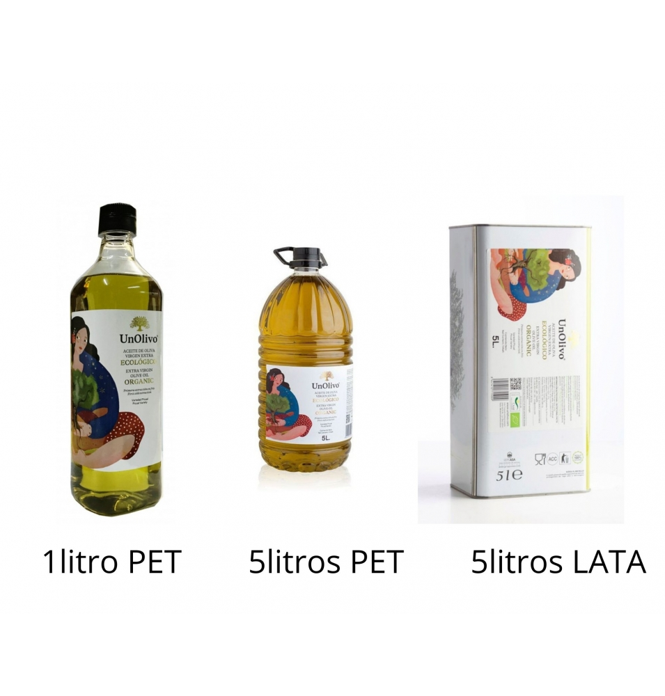 Aceite de Oliva Virgen Extra Bio, Un Olivo (1-5l)  de UNOLIVO