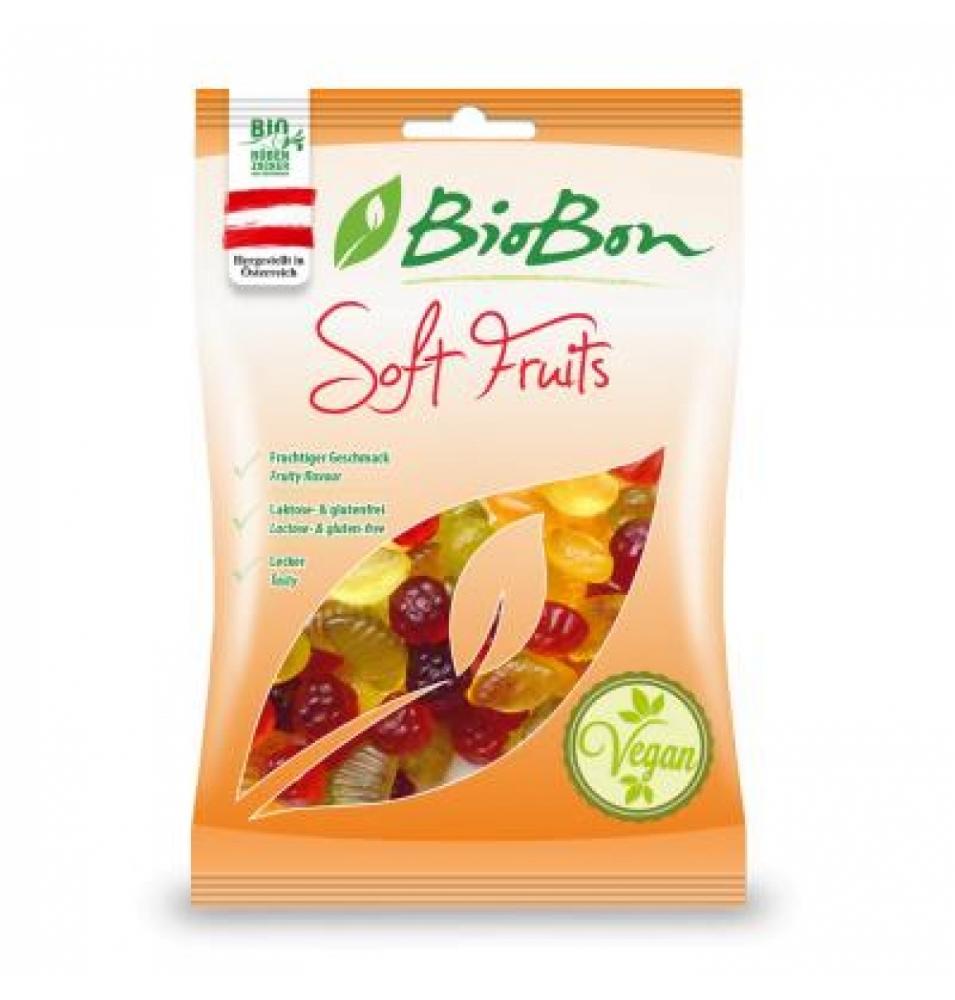 Caramelos de goma sabor frutas sin gelatina Bio, Biobon (100g)  de BIOBON