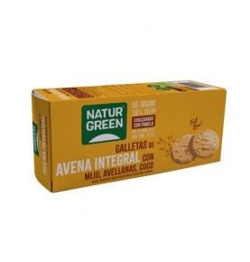 Galleta de Avena Integral con mijo, avellanas y coco Bio, NaturGreen (140 g)  de NaturGreen