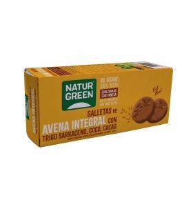 Galleta de Avena Integral con Trigo sarraceno, Coco y Cacao Bio, NaturGreen (140g)  de NaturGreen