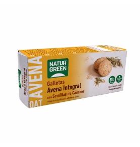 Galleta de Avena Integral con cáñamo Bio, NaturGreen (140g)  de NaturGreen