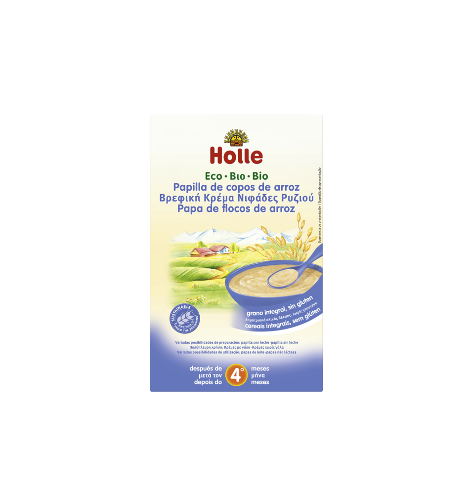Papilla de copos de arroz bio, Holle (250 g)  de Holle