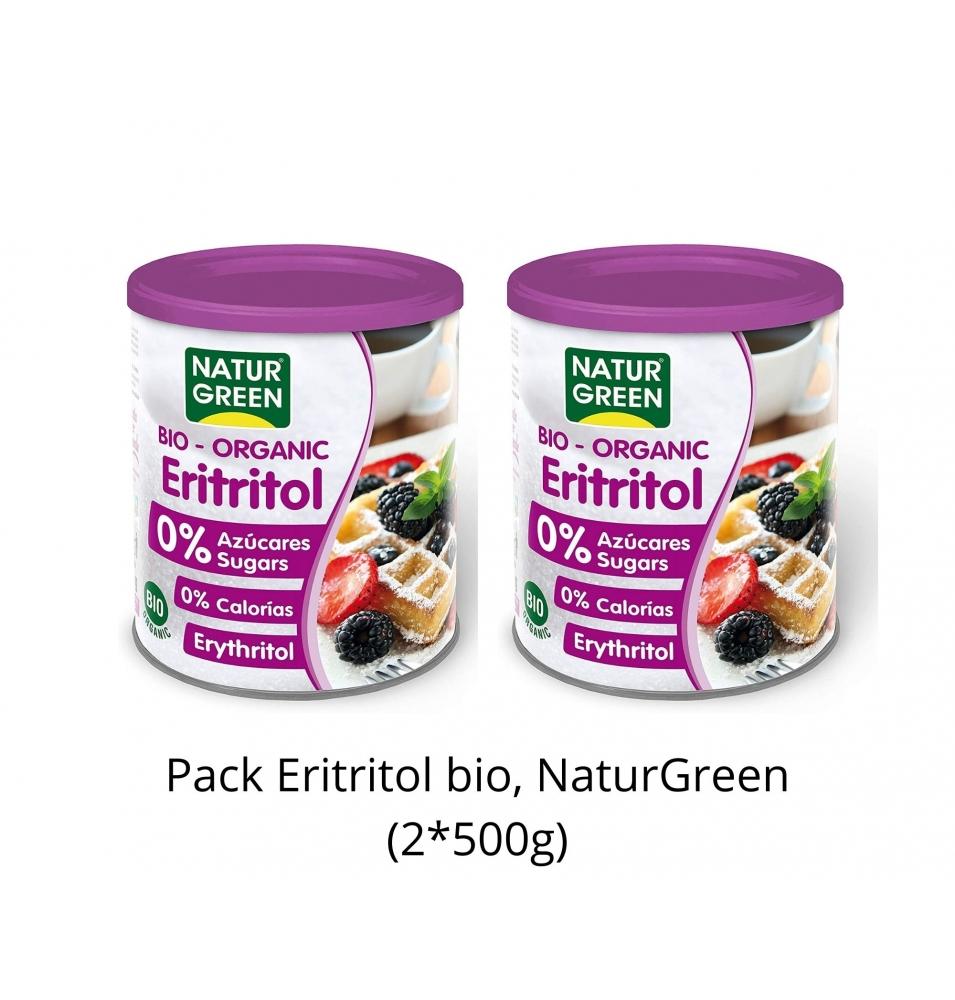 Pack Ahorro de Eritritol bio, NaturGreen (2x500g)  de NaturGreen