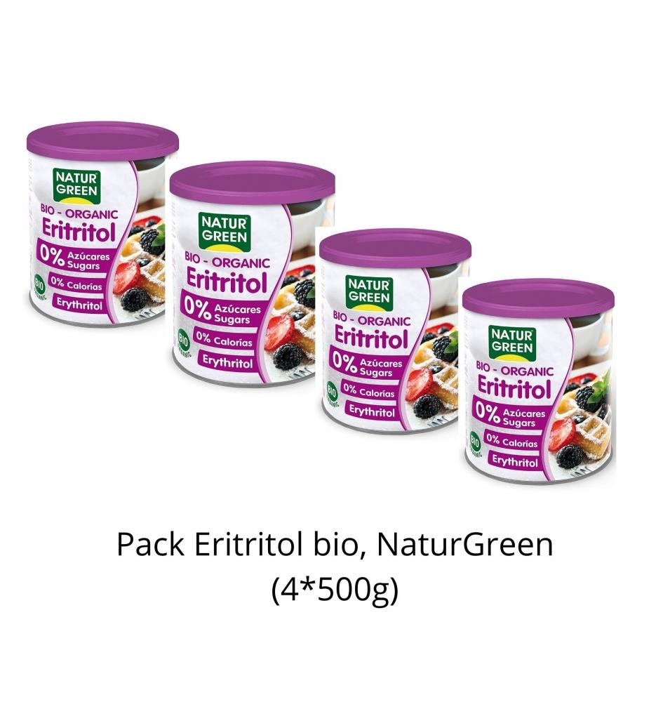Pack Ahorro de Eritritol bio, NaturGreen (4x500g)  de NaturGreen