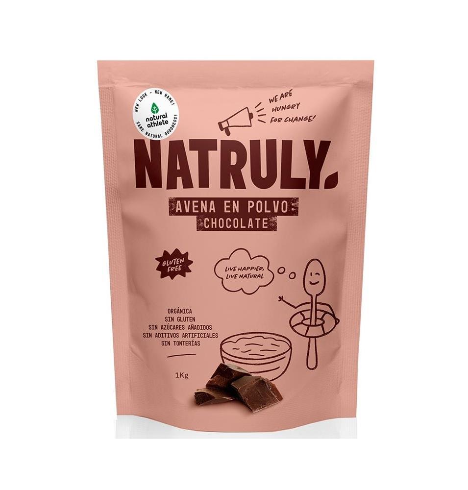 Avena en polvo chocolate Bio, Natruly (1kg)  de Natruly