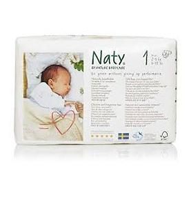 Pañales ECO Naty by Nature Babycare - nº1 (2-5 Kg) 26u  de Naty
