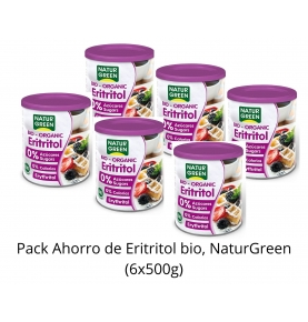 Pack Ahorro de Eritritol bio, NaturGreen (6x500g)  de NaturGreen