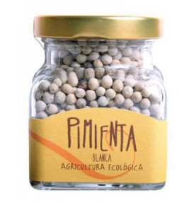 Pimienta blanca grano ecológica, Orballo (75g)  de Orballo