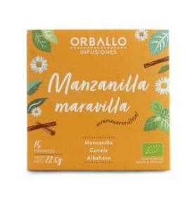 """Infusión """"Manzanilla maravilla"""" Bio, Orballo (15 pirámides)  de Orballo"""