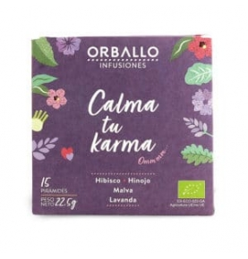"""Infusión """"Calma tu Karma"""" Bio, Orballo (15 pirámides)  de Orballo"""