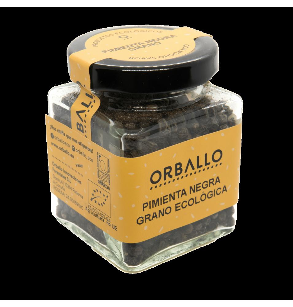 Pimienta negra grano eco, Orballo (50g)  de Orballo