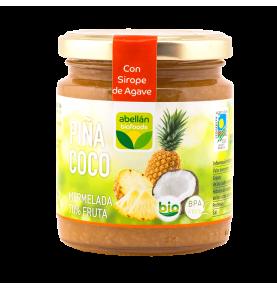 Mermelada de piña y coco con Sirope de agave bio, Abellán Biofoods (265g)  de Abellán Biofoods