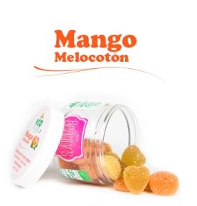 Gominola de mango y melocotón bio, Jellies (80g)  de Burmar Sweets