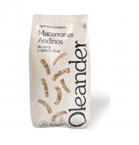 Macarrones de arroz y quinoa real sin gluten bio, Oleander (500g)  de Oleander Bio