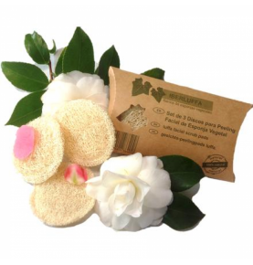 Pack de tres discos para peeling facial de luffa, Iberica de Esponjas  de Ibérica de esponjas vegetales S.L.