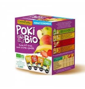 Pack 8 smoothies de manzana, plátano, mango y fresa bio, Danival (8x90g)  de Danival