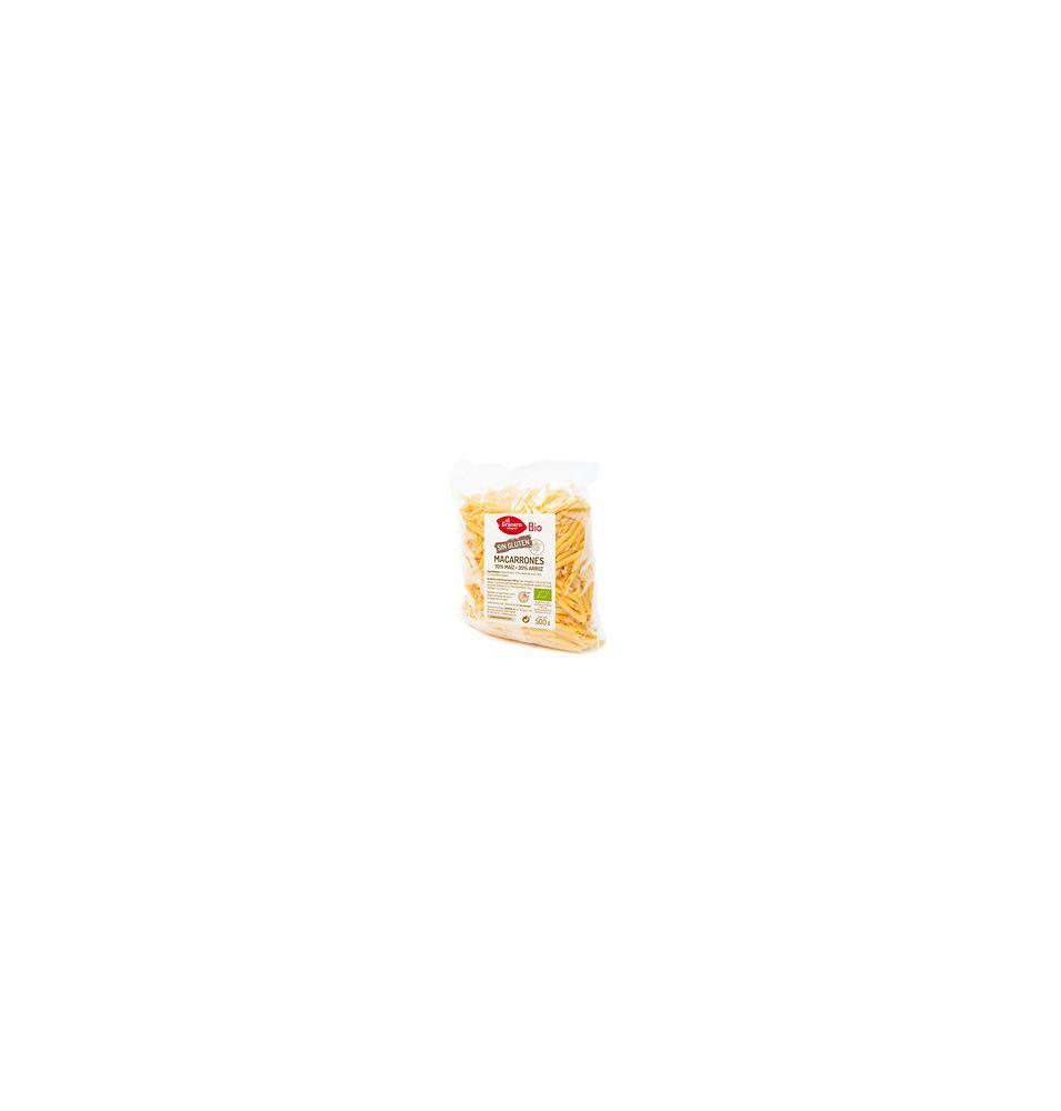 Macarrones de maíz y arroz sin gluten Bio, El Granero (500g)  de El Granero Integral