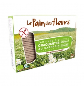 Pan de flores con trigo sarraceno sin gluten Bio, Le Pain des Fleurs (150-300g)  de Le pain des fleurs