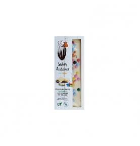 Chocolate Blanco con grageas de colores bio, Sabor Andaluz (100g)  de Chocolates La Virgitana - Sabor Andaluz