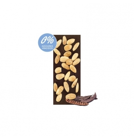 Tableta de Algarroba con almendras sin azúcar bio, Sabor Andaluz (100g)  de Chocolates La Virgitana - Sabor Andaluz