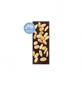 Chocolate Negro 74% Cacao y almendras sin azúcar bio, Sabor Andaluz (100g)  de Chocolates La Virgitana - Sabor Andaluz