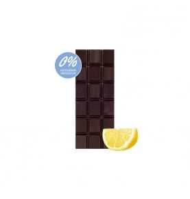Chocolate Negro 74% Cacao y limón sin azúcar bio, Sabor Andaluz (100g)  de Chocolates La Virgitana - Sabor Andaluz