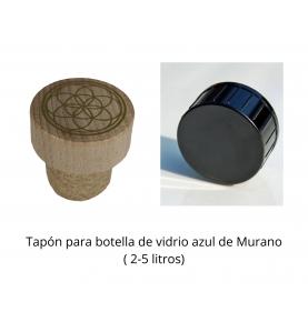 Tapón para botella de vidrio azul de Murano ( 2-5 litros)  de