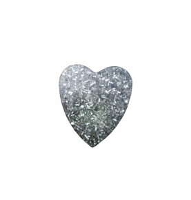Colgante Orgonita de aluminio forma de corazón (15g)  de