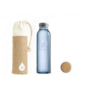 Botella de vidrio azul reciclado, Om Water Mini (500ml)  de Omwater Gratitude