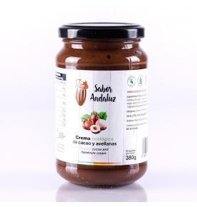 Crema de cacao con avellanas bio, Sabor Andaluz (400g)  de Chocolates La Virgitana - Sabor Andaluz