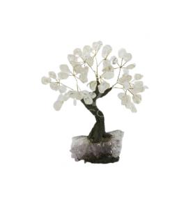 Árbol de Cuarzo Mediano con Base de Drusa Amatista  de
