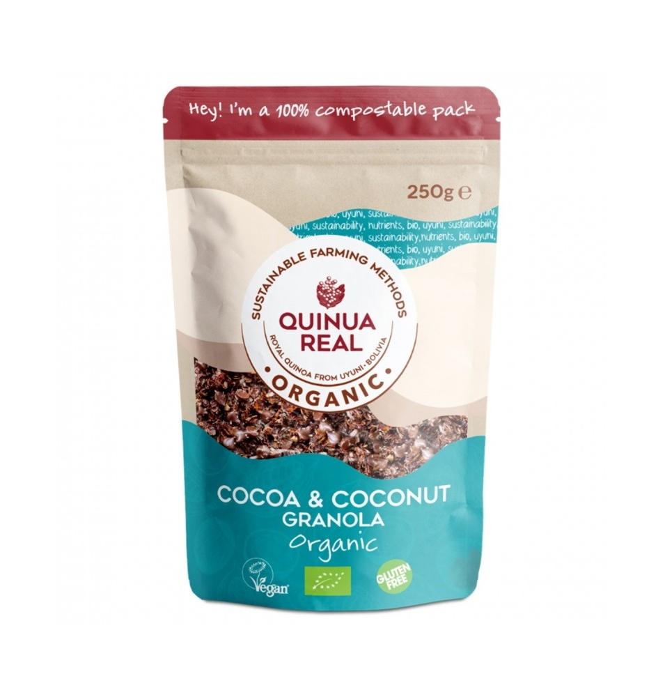 Granola de Quinua Real con Cacao y Coco Sin Gluten Bio, Quinua Real (275g)  de Quinua Real®