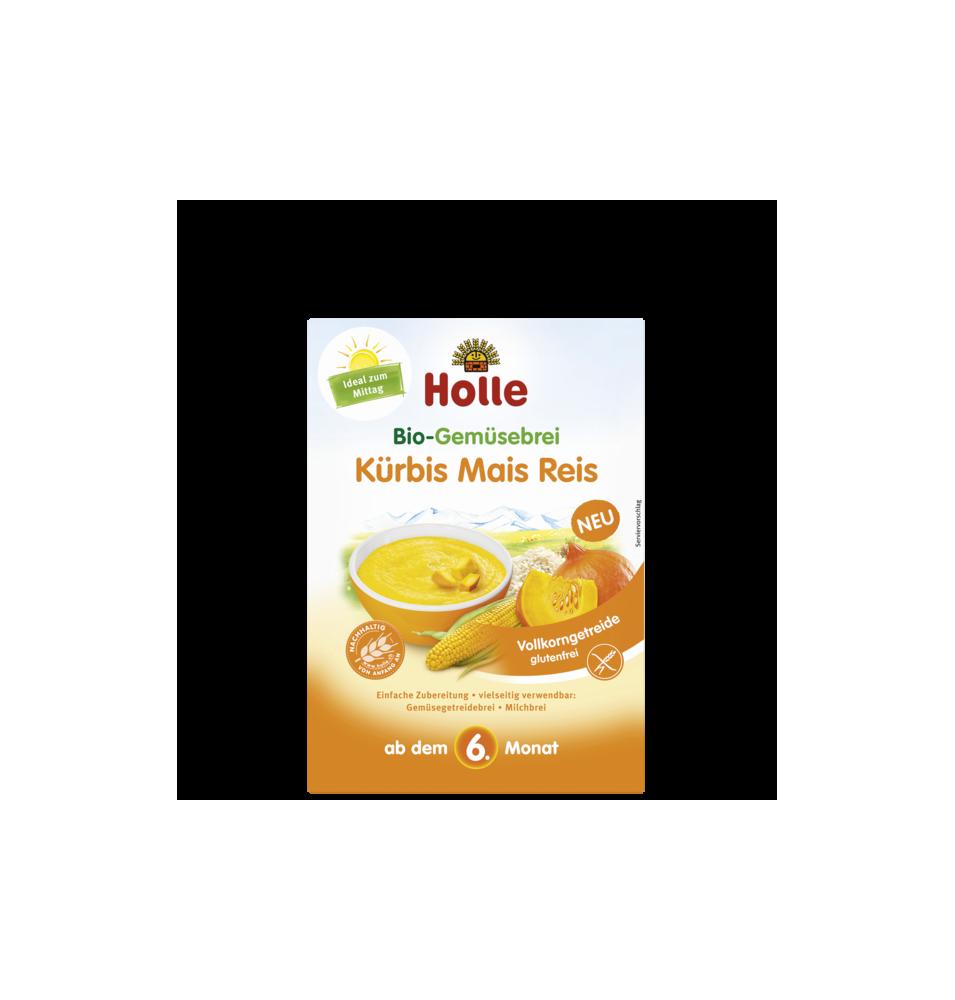 Papilla calabaza, maíz y arroz bio, Holle (175g)  de Holle