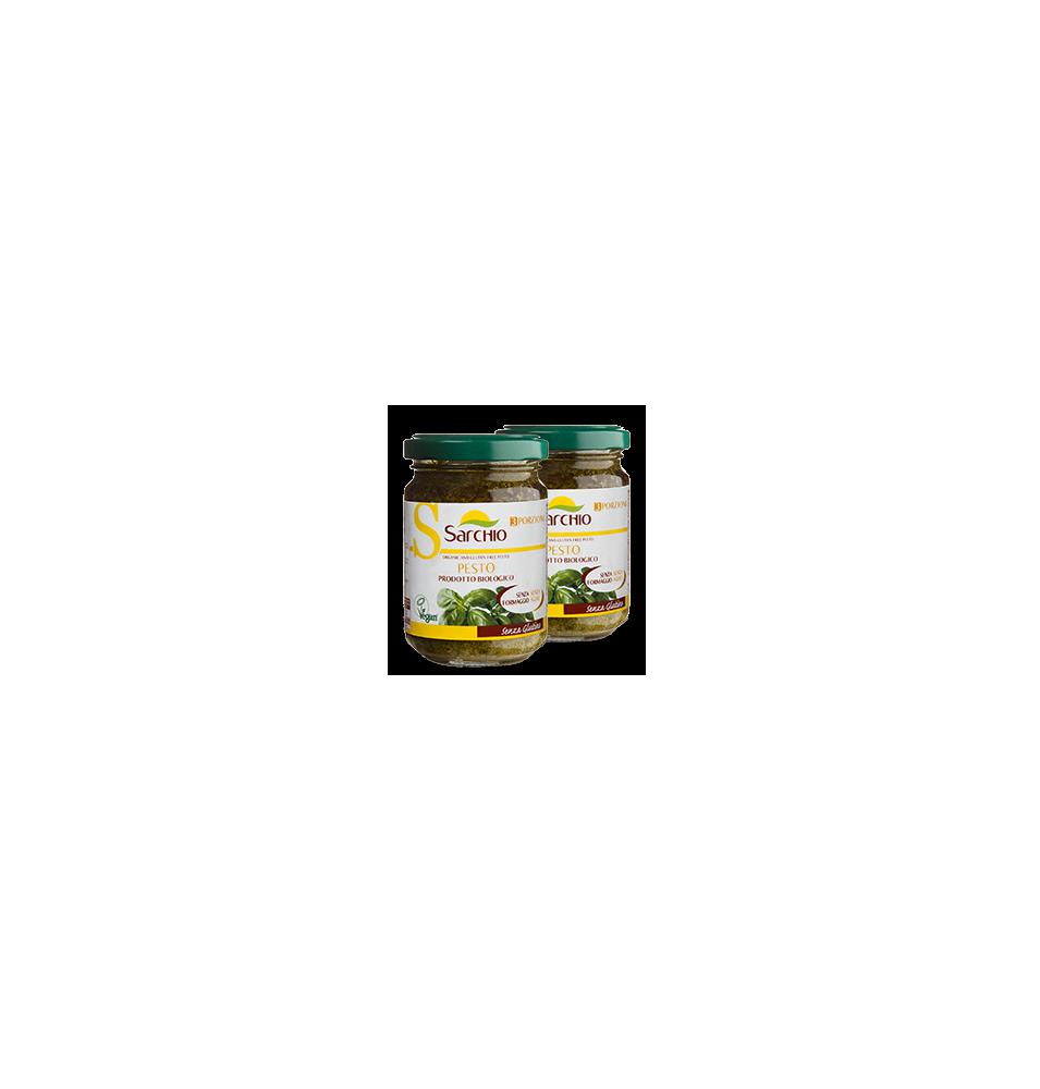 Salsa de pesto verde, sin gluten Bio Sarchio (130g)  de Sarchio