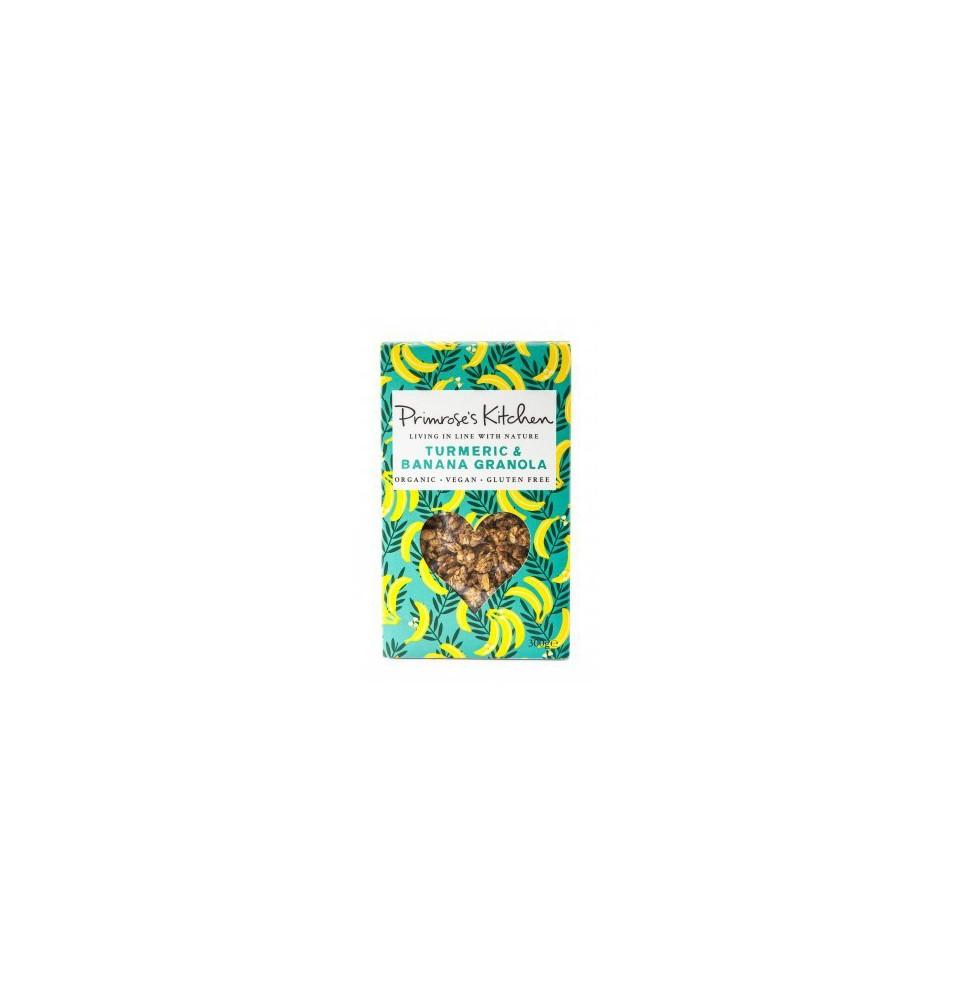 Granola Bio-Raw sin gluten Plátano y cúrcuma, Primrose`s Kitchen (300g)  de Primrose´s Kitchen