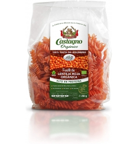 Espirales lenteja roja con tomate Bio, Castagno (250g)  de Castagno Bruno